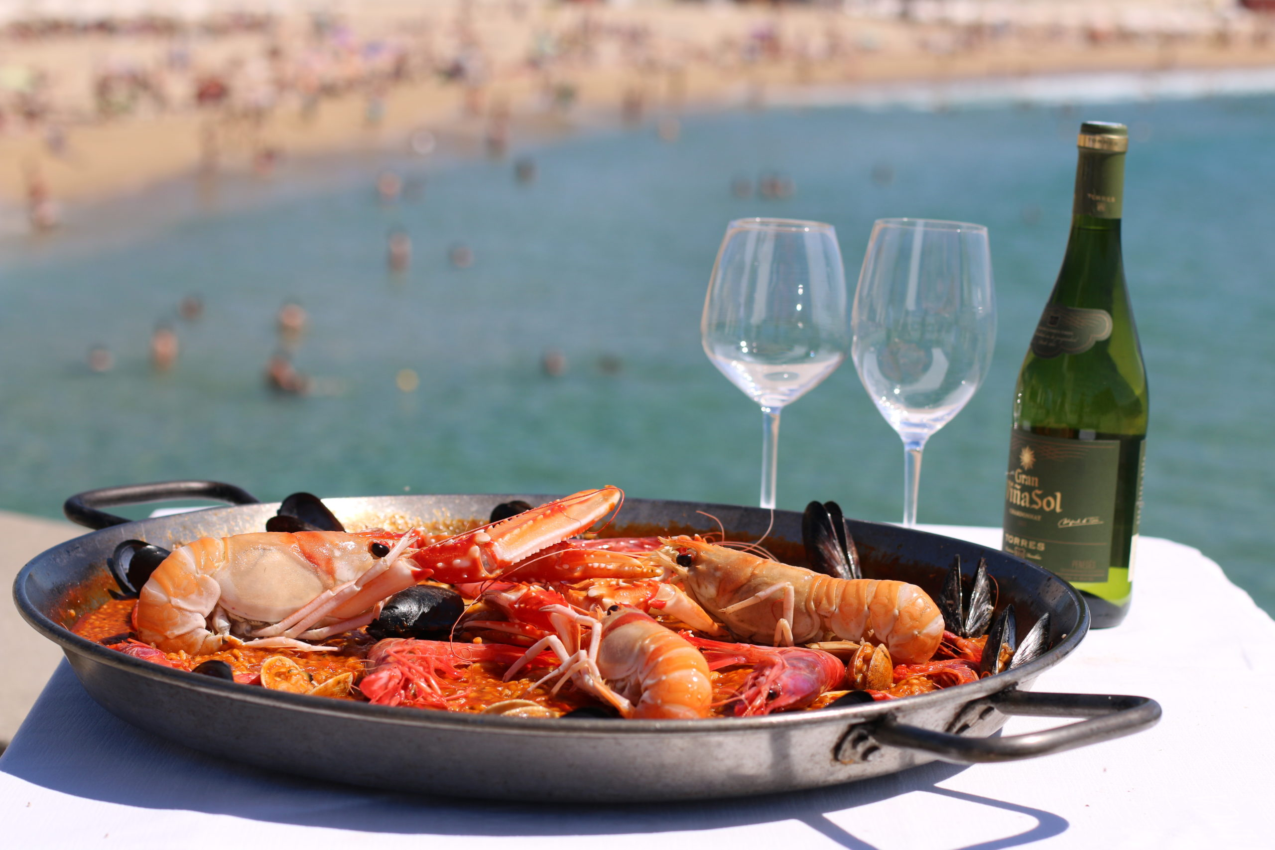 restaurante mar playa barcelona